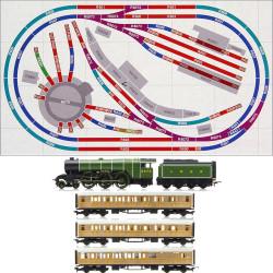 HORNBY Digital Train Set HL6  layout DCC01 Control Loco & turntable R070