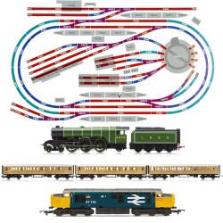 HORNBY Digital Train Set HL7 Layout  2 LOCOS Turntable R070