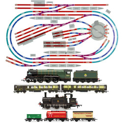 HORNBY Digital Train Set HL7 Layout Medium Double Oval with 2 Trains & Turntable
