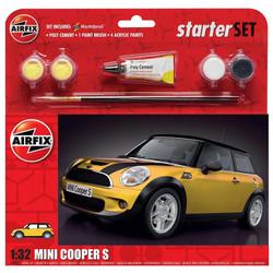 AIRFIX A55310 Large Starter Set - MINI Cooper S 1:32 1:32 Car Model Kit