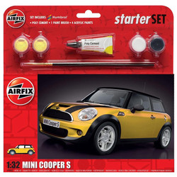 AIRFIX A55310 Large Starter Set - MINI Cooper S 1:32 1:32 Car Model Kit