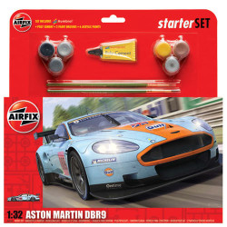 AIRFIX A50110 Aston Martin DBR9 Gulf Starter Gift Set 1:32 Model Kit Cars