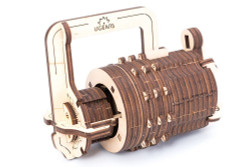 UGEARS Combination Lock - Mechanical Wooden Model Kit 70020