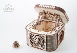 UGEARS Treasure box - Mechanical Wooden Model Kit 70031
