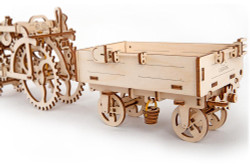 UGEARS Trailer for tractor - Mechanical Wooden Model Kit 70006