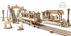 UGEARS Tram line - Mechanical Wooden Model Kit 70028