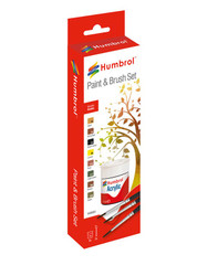 HUMBROL Acrylic Landscape Paint and Brush Painting Set