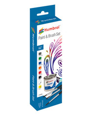 HUMBROL Enamel Gloss Paint and Brush Set