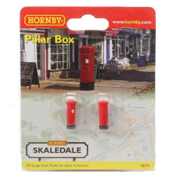 HORNBY Skaledale R8579 1 Pack of 2 Pillar Box - OO Gauge Buildings