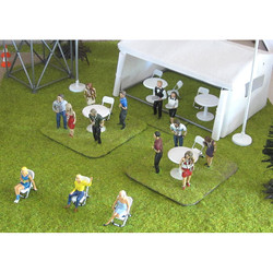 SLOT TRACK SCENICS Acc.10 Open Chairs pack of 5  - for Scalextric