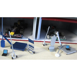 SLOT TRACK SCENICS Acc.13 Modern Pit Tools  - for Scalextric