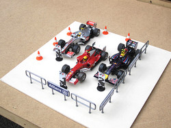 SLOT TRACK SCENICS PL/PF Parc Ferme Set - for Scalextric