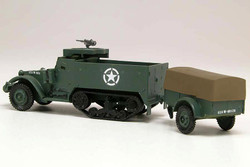 AIRFIX A02318V Half-Track M3 & 1 ton Trailer - Vintage 1:76 Military Model Kit