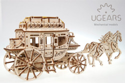 UGEARS Model Stagecoach Mechanical Wooden Model Kit 70045