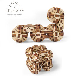 UGEARS Model Flexi-cubus Mechanical Wooden Model Kit 70049