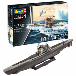 REVELL German Submarine Type VII C/41 1:350 Boat Model Kit 05154