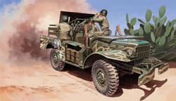 Italeri M6 Dodge Anti Tank Gun inc one figure WC55 6555 1:35 Military Model Kit