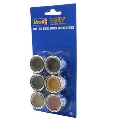 REVELL Military Colour Set 2 (6x14ml colours) Enamel Paints 32341