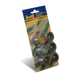 REVELL Military Colour Set (6x14ml colours) Enamel Paints 32340