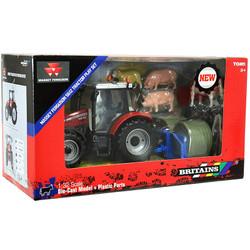 BRITAINS Massey Ferguson Tractor Playset 1:32 Farm Vehicle 43205