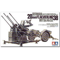 TAMIYA 35091 German 2cm Flakvierling 38 1:35 Military Model Kit