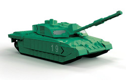 AIRFIX Quickbuild Challenger Tank Green J6022 Tank Model Kit