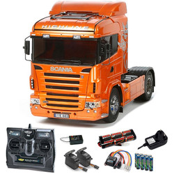 TAMIYA RC 56338 Scania R470 pre-painted Orange 1:14 Kit + radio bundle