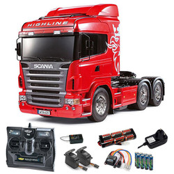 TAMIYA RC 56323 Scania R620 - 6x4 Highline Tractor Truck 1:14 Kit + radio bundle