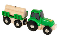 BRIO 33799 Tractor with Load for Wooden Train Set