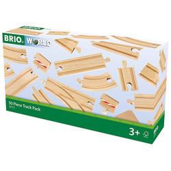 BRIO World 33772 50pc Track Set for Wooden Train Set