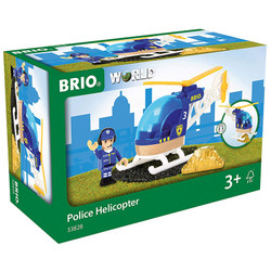 BRIO World 33828 Police Helicopter for Wooden Train Set