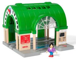 BRIO World 33649 Central Train Station for Wooden Train Set