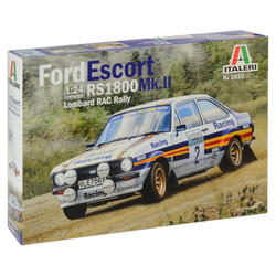 ITALERI 3650 Ford Escort MK.II RS1800 Lombard RAC Rally 1:24 Car Model Kit