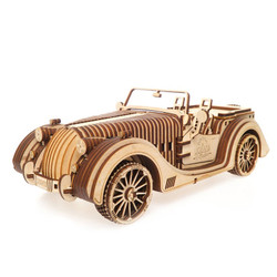 UGEARS Roadster - Mechanical Wooden Model Kit 70052