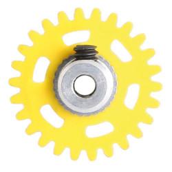 NSR 3/32 AW Soft Plastic Gear 26t Yellow w/alu Hub 16mm dia NSR6626