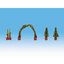 NOCH Thuja (2) Rose and Rose Arch Ornamental Plants HO Gauge Scenics 14022
