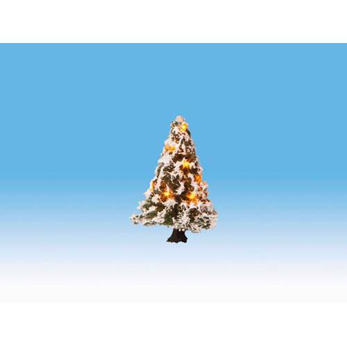 NOCH Christmas Illuminated Tree w// 10 LEDs 5cm HO Gauge Scenics 22110