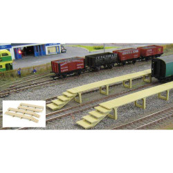 GAUGEMASTER Fordhampton Carriage Platforms Plastic Kit OO Gauge GM407
