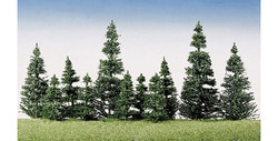 FALLER Silver Fir Trees 50-120mm (40) HO Gauge Scenics 181493