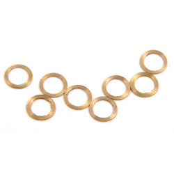 "NSR Axle Spacers 3/32 .005"" Brass (10) NSR4810"