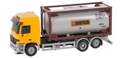 FALLER Car System LKW MB Actros L02 Tanktainer Lorry V HO Gauge 161483