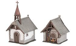 FALLER Farm Chapel & Bakehouse Model Kit I HO Gauge 130571