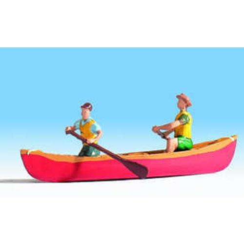 NOCH Rowing Boat w// Figure HO Gauge Scenics 16800
