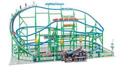FALLER Alpina-Bahn Rollercoaster Fairground Model Kit w Motor VI HO Gauge 140410