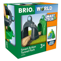 BRIO World 33935 Smart Tech - Action Tunnel Pack for Wooden Train Set
