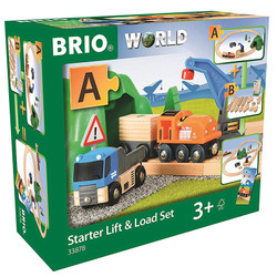BRIO World 33878 Starter Lift & Load Set A for Wooden Train Set