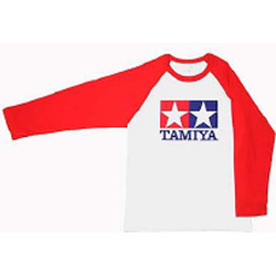 TAMIYA T Shirt -L.R Sleeve (red) L 66736 Merchandise