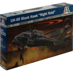 ITALERI UH-60/MH-60 Black Hawk Night Raid 1328 1:72 Helicopter Model Kit