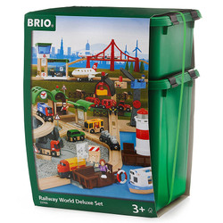 BRIO 33766 Railway World Deluxe Set - Wooden Train Set