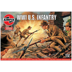 AIRFIX A00729V WW1 U.S Infantry - Vintage Classics 1:76 Figures Model Kit